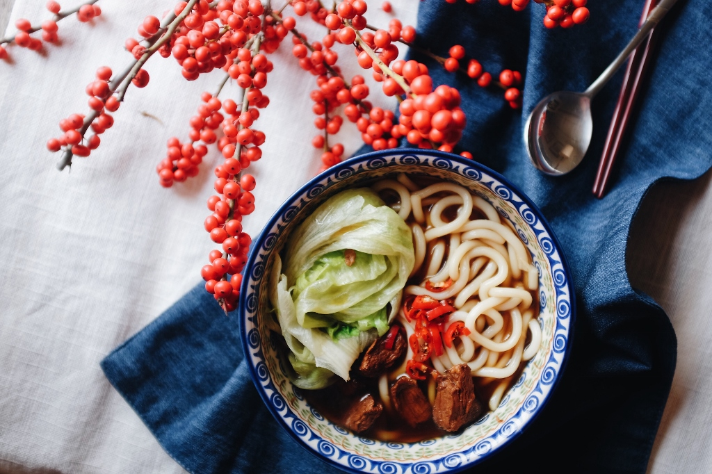beef noodle in soup