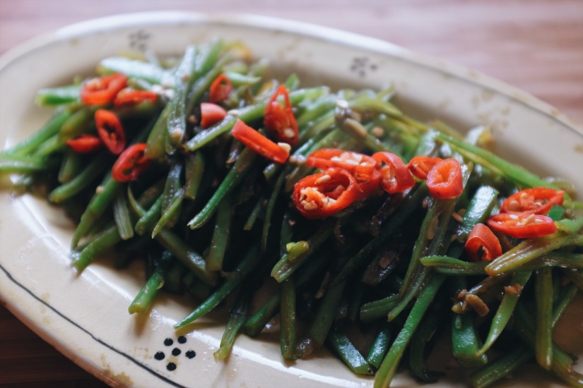 party dish chinese saute green beans
