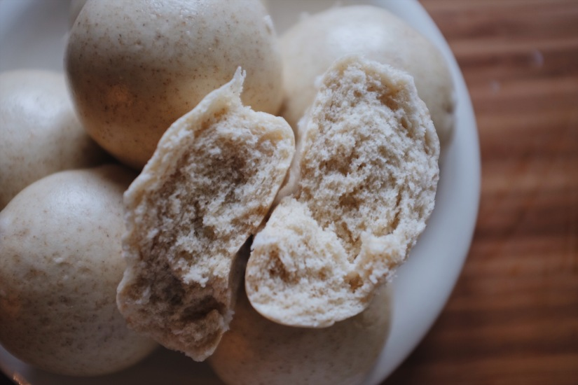 Chinese steamed bun bread 发面馒头